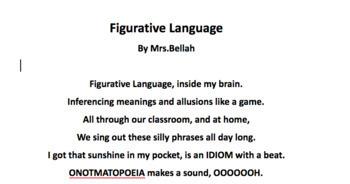 Figurative Language Song lyrics