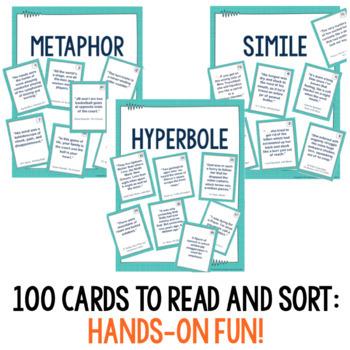 Figurative Language Sort : 100 Card Sorting Game