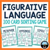 Figurative Language Sort Activity | 100 Card Sorting Game Simile Metaphor & more