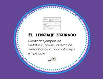 Figurative Language Sort / Clasificacion de lenguaje figurado