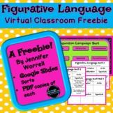 Figurative Language Sort Freebie for Distance Learning