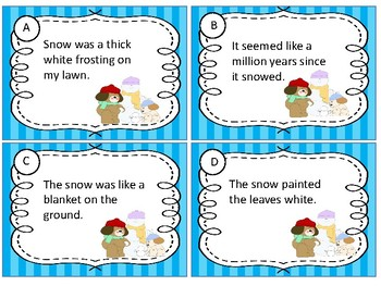 Figurative Language Sort Game