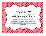 Figurative Language Sort for Grades 5-8
