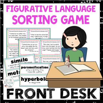 Front Desk by Kelly Yang Figurative Language Sort