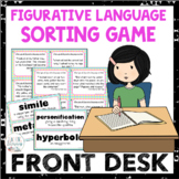 Front Desk by Kelly Yang Figurative Language Sort
