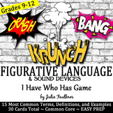 Figurative Language & Sound Devices I Have...Who...Has Game, Poetry, Review