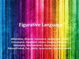 Figurative Language & Sound Devices PowerPoint with Handout