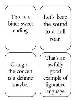 Figurative Language Spoons Card Game