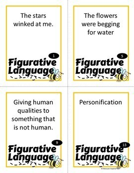 Figurative Language Spoons Game 3 Games Included