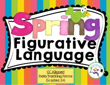Figurative Language Spring - Data charting included