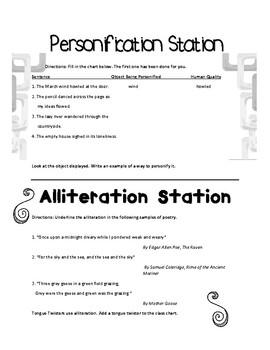 Figurative Language Station Activities