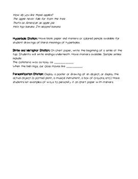Figurative Language Station Activities 2