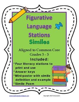 Figurative Language Stations Similes
