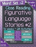 Figurative Language Stories SET 2! Close Reading for Common Core Grades 4-8+