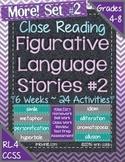 Figurative Language Stories SET 2! Close Reading for Common Core Grades 4-8+