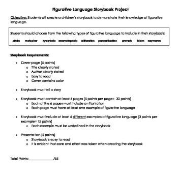 Figurative Language Storybook Project