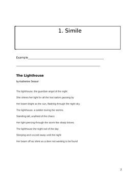 Figurative Language Student Packet