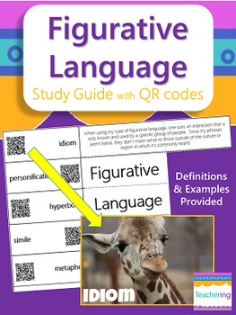Figurative Language Study Guide with QR Codes