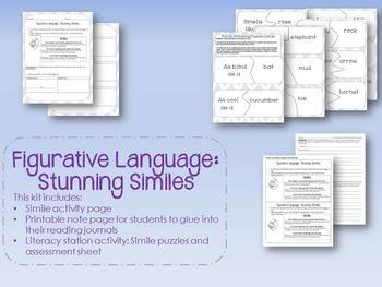 Figurative Language: Stunning Similes Collection