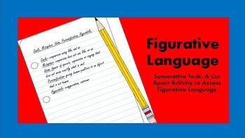 Figurative Language Summative Assessment Activity