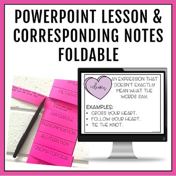 Figurative Language Sweetheart PowerPoint, Activities & Candy Writing