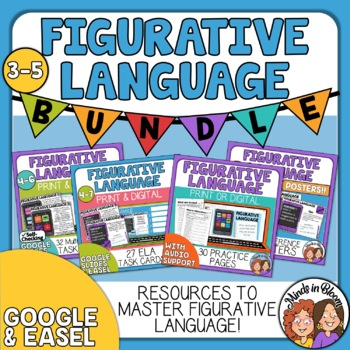Figurative Language Task Bundle - Printables, Task Cards, and Posters!