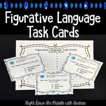 Figurative Language Task Cards {24 Multiple-Choice Task Cards}