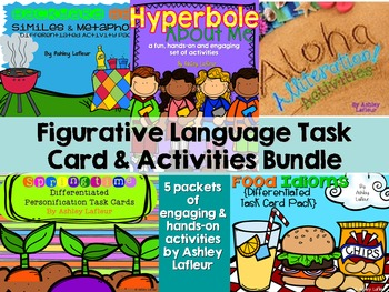 Figurative Language Task Card & Activities Bundle