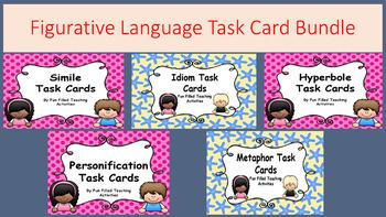 Figurative Language Task Card Bundle