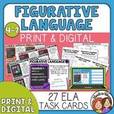 Figurative Language Task Cards or Digital | Simile Metapho