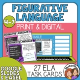 Figurative Language Task Cards and Google Slides Simile, M