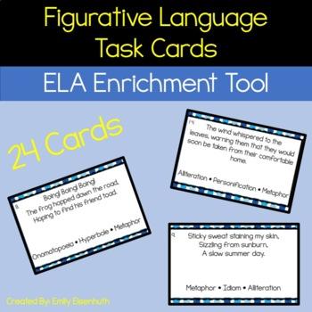 Figurative Language Task Cards (24 cards)