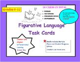 Figurative Language Task Cards- A Metamorphosis via Flash Cards