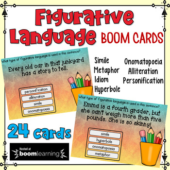 Figurative Language Task Cards: BOOM Cards