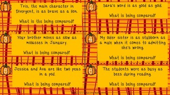 Figurative Language Task Cards - Grades 4-6