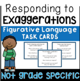 Figurative Language Task Cards   Hyperbole Activities