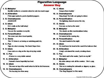 Figurative Language Task Cards: Idiom, Simile, Pun, Metaphor, Hyperbole, etc.