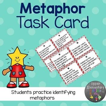 Figurative Language Task Cards Metaphor