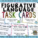 Figurative Language Task Cards & Game {Similes, Metaphors,