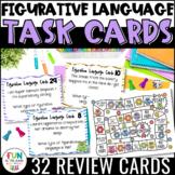Figurative Language Task Cards & Game {Similes, Metaphors,