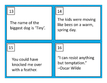 Figurative Language Task Cards, Set 1