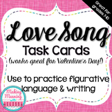 Figurative Language Task Cards, Song Lyrics, Poetry, Valentine's Day