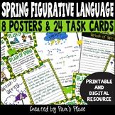 Figurative Language Task Cards | Spring Figurative Languag