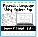 Figurative Language Task Cards Using Modern Rap