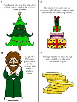 Figurative Language Task Cards and Anchor Charts -- Holiday Style