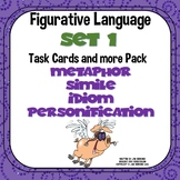 Figurative Language Task Cards and More Pack Set 1