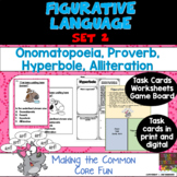 Figurative Language Task Cards and More Pack Set 2