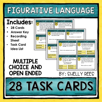 Figurative Language Task Cards and Poster Set