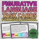 Figurative Language Task Cards for MIDDLE SCHOOL: Quizzes, Bell-Ringers