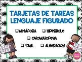 Figurative Language Task Cards in Spanish